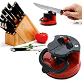 Profestional Knife Sharpener With Suction Pad For All Types Of Knives: Kitchen Knife, Scissor, Grinder Blade... Eco Friendly Knife Sharpening Quick And Easy To Use Made By CAHU.