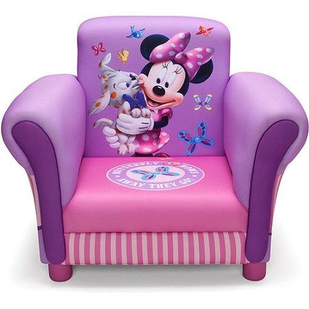 Kids, Children, Toddlers Upholstered Fabric Chair (Minnie Mouse) by Delta Children