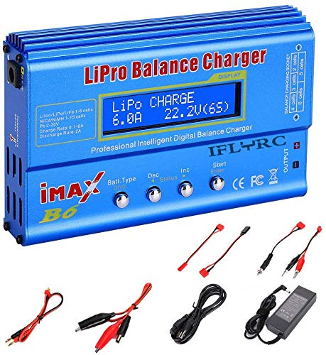 Lipo Battery Charger for LiPo/Li-ion/Life/LiHV Battery (1-6S)