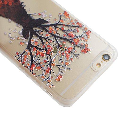 Voguecase® für Apple iPhone 6/6S 4.7 (4,7 zoll) hülle, Schutzhülle / Case / Cover / Hülle / TPU Gel Skin (Tiere/Ahorn) + Gratis Universal Eingabestift