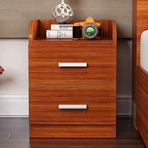 CWJ Household Small Table Bedside Nightstand Cabinet Wenge Furniture Chest Drawer Storage Shelf Simple Creative Bed Multifunction Table,Brown