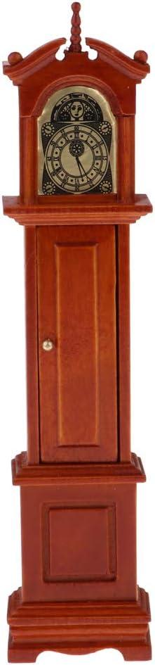 P Prettyia Modelo de Reloj de Madera Adornos DIY para Escala 1/12 Dollhouse