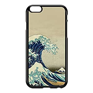 Great Wave off Kanagawa 2 by Katsushika Hokusai Black Hard Plastic Case for iPhone 6 Plus by Painting Masterpieces + FREE Crystal Clear Screen Protector