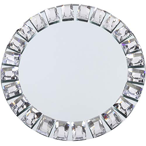 - Koyal Wholesale Mirror Charger Plates, Bulk Set of 4, Silver Mirrored Glass Charger Plates, Round Mirror Charger Place Settings, Upscale Christmas Dinnerware, Holiday Tablescape, Wedding Table Setting