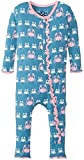 KicKee Pants Print Fitted Ruffle Coverall - Blue Moon Crabby - 18-24 Months