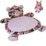 Bestever Mary Meyer Gift Set Bundle- Pink Camo Bear Mat Stuffed Owl