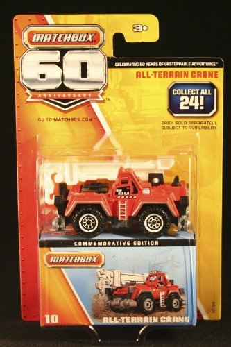 Matchbox 2013 60th Anniversary All-Terrain Crane 10/24, Red