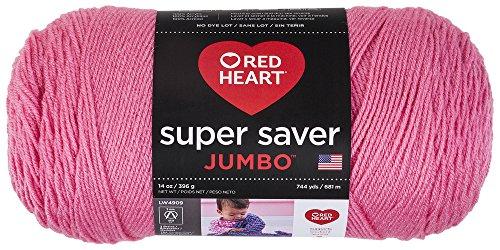 - Red Heart 073650016004 Super Saver Jumbo Yarn, Perfect Pink