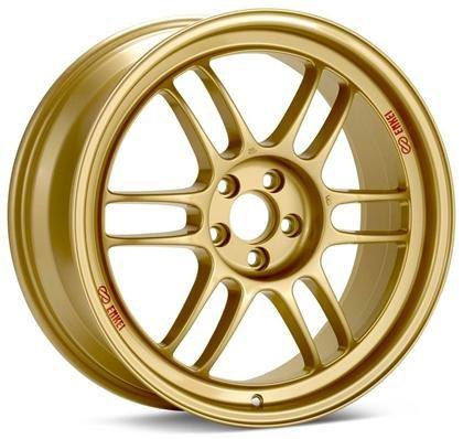 Enkei RPF1 17x9 5x100 45mm Offset Gold Wheels - Set of 4