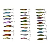 30 Super New Fishing Spoons Spinner Baits Lures Pike Salmon Bass