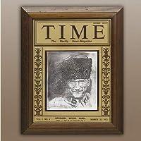 Kuka Mustafa Kemal Atatürk Time Dergisi Kapağı Tablo Küçük boy