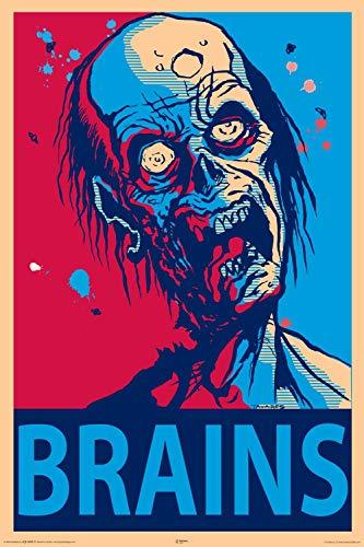 NMR Laminated Zombie Brains Walking Dead Decorative Poster 24x36