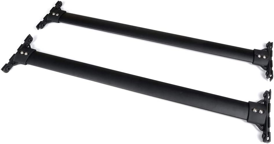 AUTOMUTO Cross Bars fit for 2010 2011 2012 02013 2014 2015 Lexus RX350,2010 2011 2012 02013 2014 2015 Lexus RX450h Aluminum Black Roof Top Bar Luggage Carrier