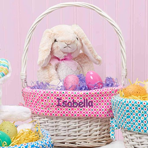 Personalized Colorful Dots Easter Basket - Pattern Easter Basket