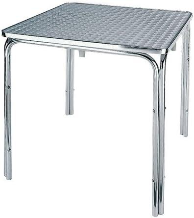 Gambe Per Tavoli In Alluminio.Tavolo Tavolino Alluminio 4 Gambe Cm 60x60x70 Bar Esterni Quadrato