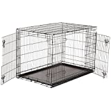 AmazonBasics Double-Door Folding Metal Dog Crate - 48 Inches