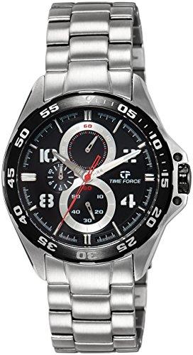 Timeforce TF3328M01M 46mm Silver Steel Bracelet & Case Mineral Men's Watch