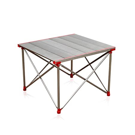 ZXQZ Mesa Plegable, Mesa de Picnic Plegable de Aluminio portátil ...