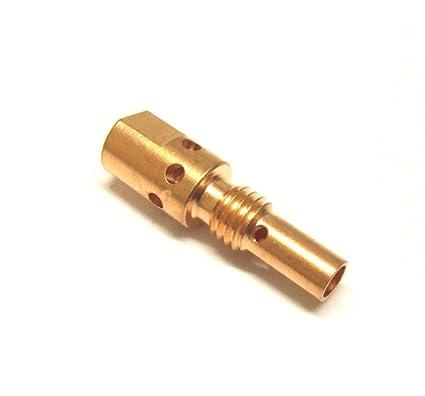 2 difusor boquilla portapunta Linterna para soldadura Mig gas tipo 25