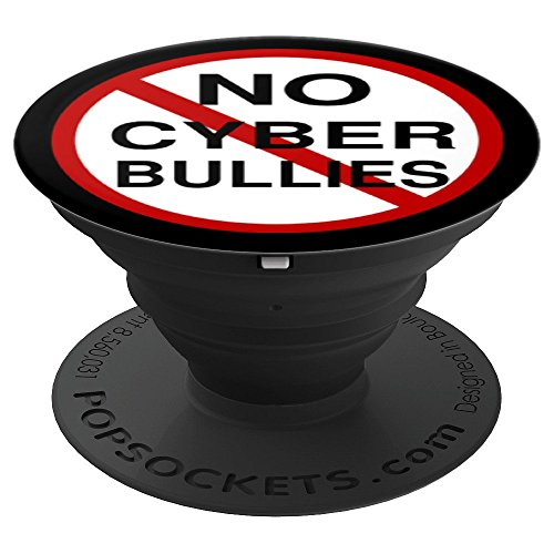 No Cyber Bullies anti bullying movement - PopSockets Grip and Stand for Phones and Tablets ()