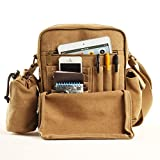 The Korean version of canvas bags/Mens shoulder bags/Casual male package/Messenger bag//Outdoor backpack bags-A