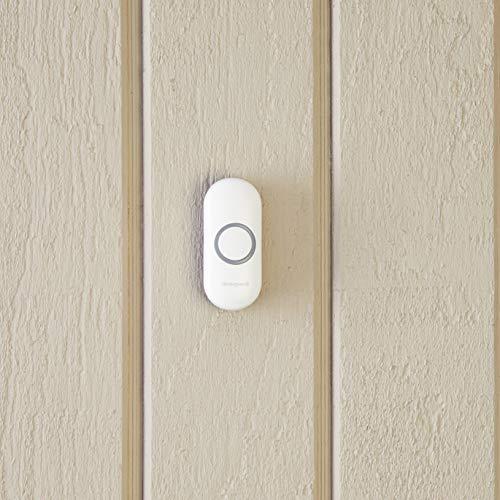 Honeywell Home RPWL400W2000/A Honeywell Series 3, 5, 9 Wireless Doorbell Push Button with Halo Light