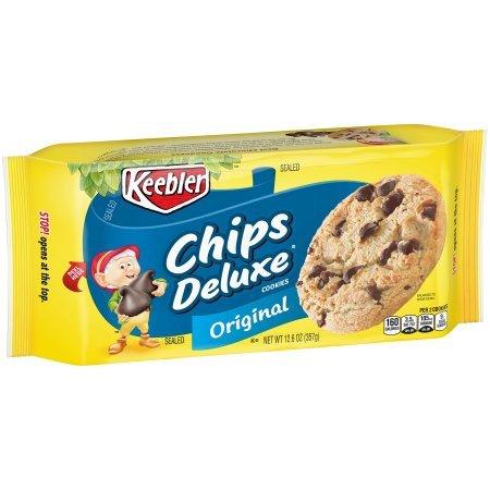 Deluxe Chip - Keebler Chips Deluxe Original Cookies 12.6 oz. Pack (3 Pack 12.6oz)