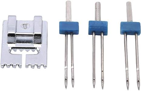 ZALING - Prensatelas para máquina de coser (doble aguja ...