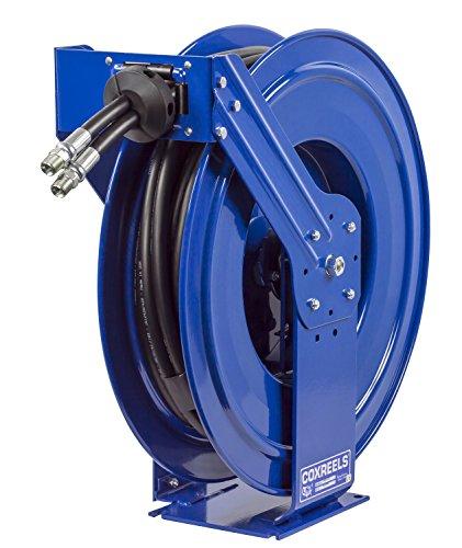 Coxreels TDMP-N-450 Dual Hydraulic Hose Spring Rewind Hose Reel for Hydraulic Oil: 1/2
