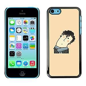 Be Good Phone Accessory // Dura Cáscara cubierta Protectora Caso Carcasa Funda de Protección para Apple Iphone 5C // Funny Curly Hair Man