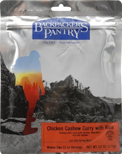 Chicken Cashew Curry (Backpacker's Pantry Chicken Cashew Curry, Two Serving Pouch by Backpacker's)