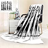 African Woman survival blanket Indigenous People of Africa Theme Local Woman in Traditional Turban and Dress space blanket Multicolor size:59''x35.5''