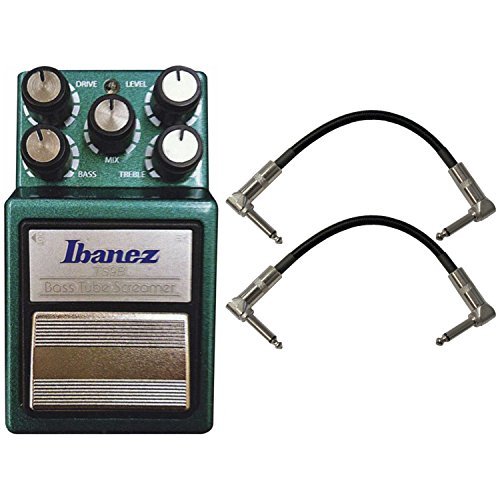 Tube Bass Screamer - Ibanez TS9B Bass Tube Screamer Bass Stomp Box w/ 2 Patch Cables