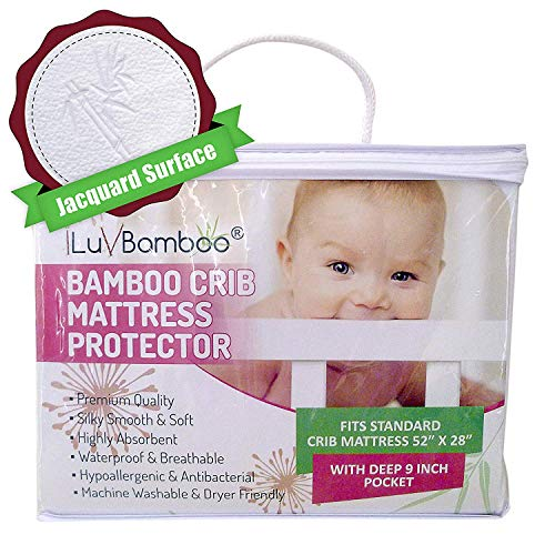 iLuvBamboo Protector Waterproof - Soft Jacquard Topper - Noiseless, Breathable for Potty Training & Infants