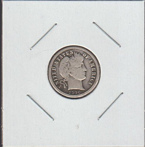 1916 Barber or Liberty Head (1892-1916) Dime Choice Fine Details