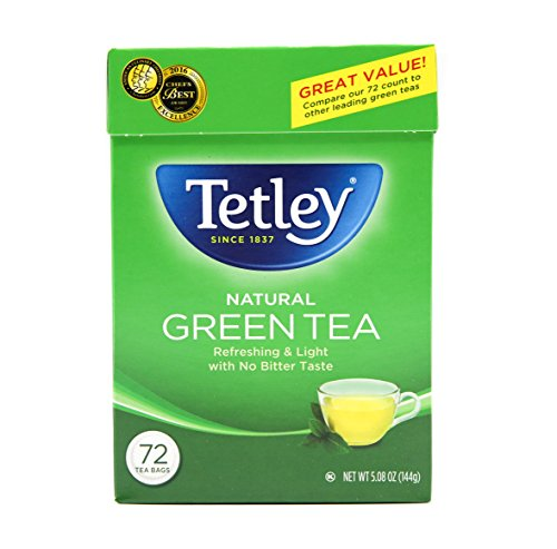 Tetley Green Tea, 72 Tea Bags, Packaging may vary