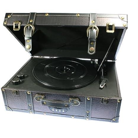 Tocadiscos Maleta Modelo Marylin con Lector de USB y Tarjetas SD ...
