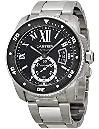 Calibre de Cartier Diver Black Dial Steel Mens Watch W7100057