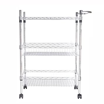 Amazon De Kuchenwagen Hwf 3 Tier Draht Regal Lagerregal Metall