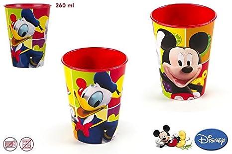 DISOK - Vaso 260 Ml Mickey - Vasos PVC Plástico para ...
