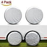 #5: Amfor Set of 4 Tire Covers,Waterproof Aluminum Film Tire Sun Protectors,Fits 30