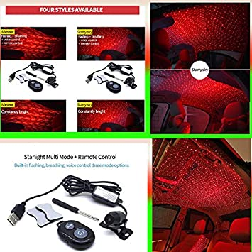 Klinkamz Car Atmospheres Lamp Interior Ambient Star Light USB Night Romantic Decoration starry sky