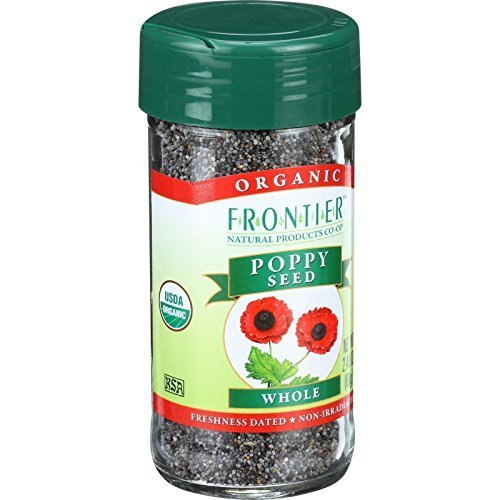 Frontier Herb Poppy Seed - Organic - Whole - 2.4 Oz
