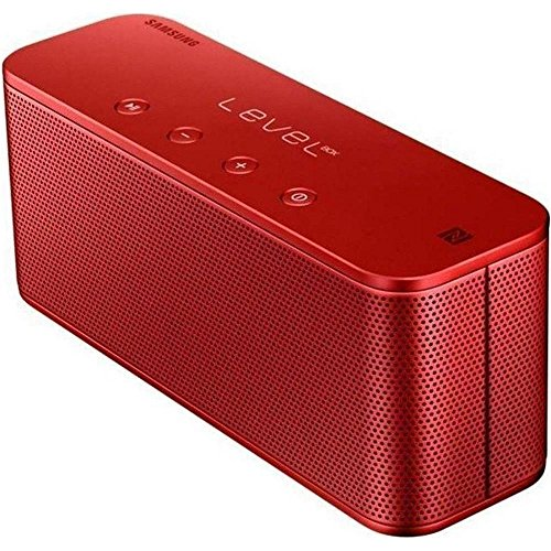 Samsung Original Level Box Mini Wireless Bluetooth NFC Lautsprecher Kompatibel mit iPhone, iPad, iPod, Smartphone, Tablet und MP3 Player - Rot