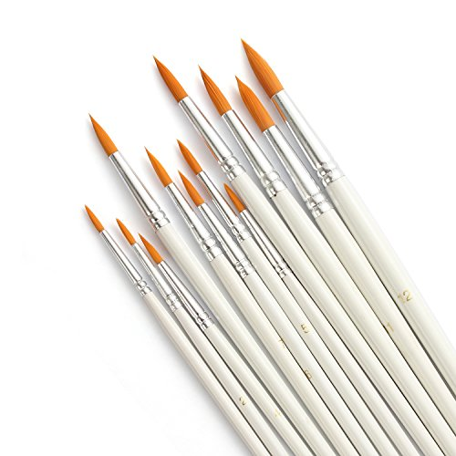 LANIAKEA Paint Brushes, 12pcs Paint Brush Set for...