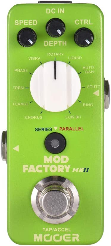 MOOER MOD FACTORY MKII Multi Modulation Effect Pedal 11 Modulation Effects Tap Tempo True Bypass Full Metal Shell