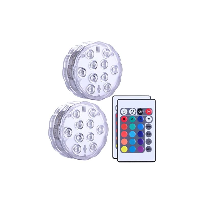Qoolife Submersible Led Lights Remote Co