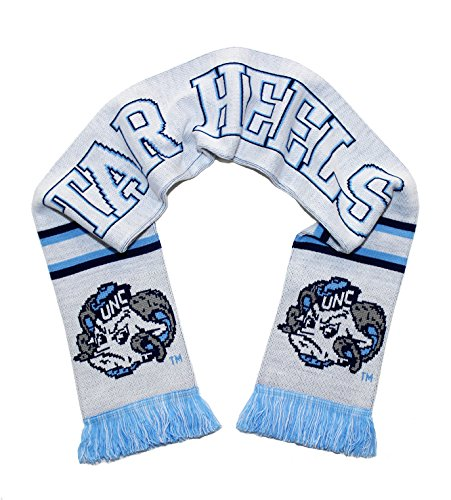 UNC Tar Heels Scarf - All White Alternate North Carolina Knitted ()