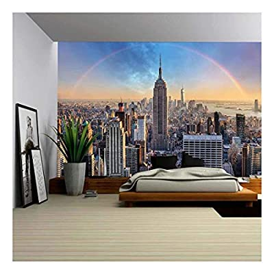 York City Rainbow Skyline Wall Mural Decor - Wall Murals
