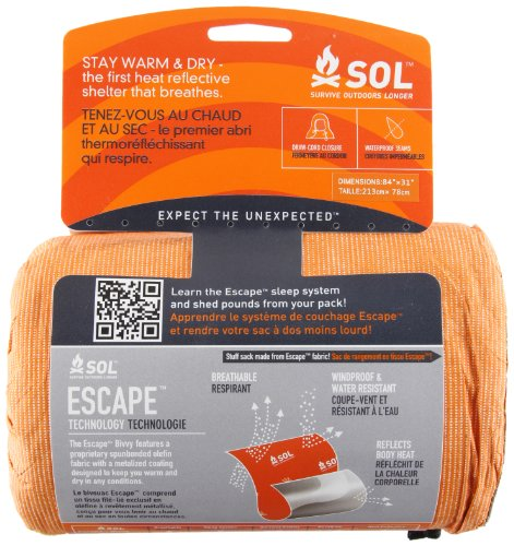 51G9ZywFXKL - Adventure Medical Kits Sol Escape Bivvy - Orange